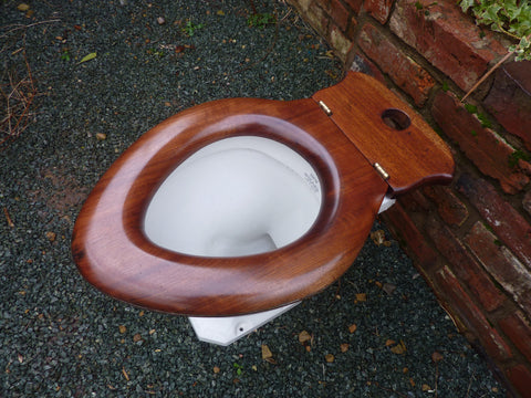 Antique French Walnut High Level Toilet Seat Professionally Restored