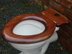 Antique French Walnut High Level Toilet Seat