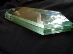One Victorian Antique Thick Bevelled Cut Glass Door Finger plate