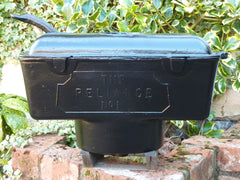 Restored Art Deco Reliance Cast Iron High Level Toilet Cistern