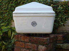 Antique Stonite Fireclay High Level Toilet Cistern with Lid