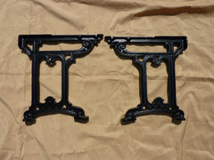 Victorian Cast Iron Throne Toilet Seat Floor Brackets