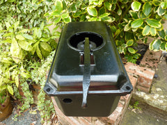 Plain Black Antique Cast Iron High Level Toilet Cistern