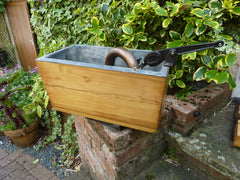 """Neptune Patent"" - Restored Antique Wooden High Level Toilet Cistern with Lid"