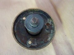 Vintage Brass Electric Door Bell Push - Reeded