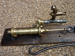 Restored Antique Cast Iron & Brass Garden Working Water Hand Pump with Tap