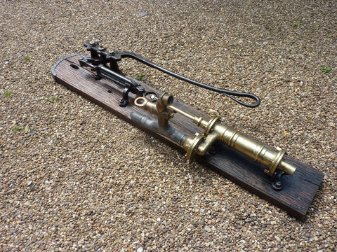 Restored Cast Iron & Brass Working Water Hand Pump with Tap