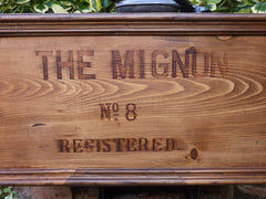 """Mignon No 8"" - Restored Wooden High Level Toilet Cistern"