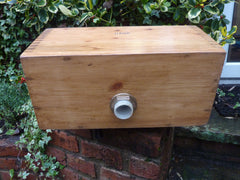 Restored Wooden High Level Toilet Cistern - Hawk