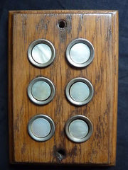 Antique Wood and Mother of Pearl Door Bell Push Buttons