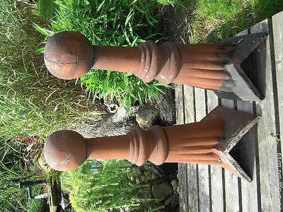 Pair Antique Architectural Roof Ridge Ball Finials