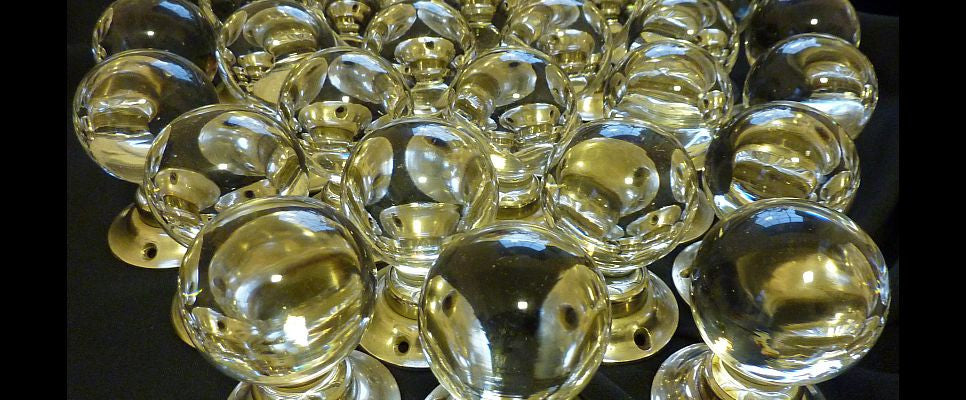 Antique glass ball knobs