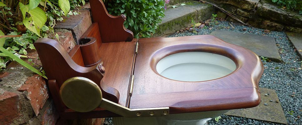 Antique throne toilet seat