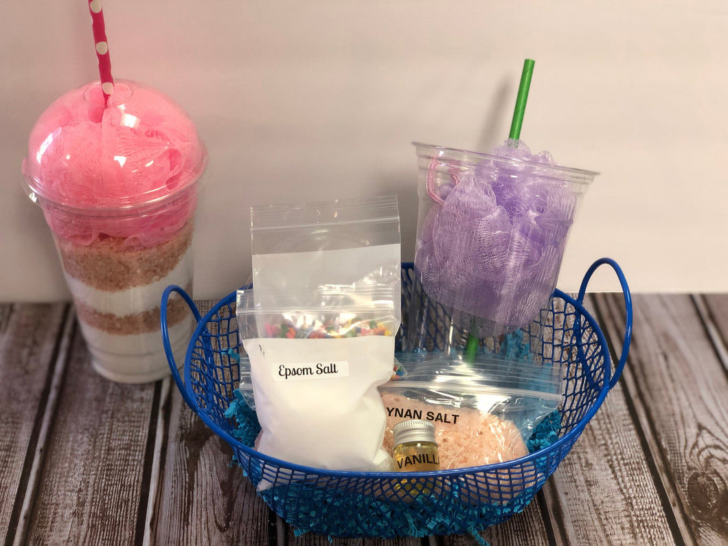 DIY Frappuccino Fizzy Bath Salt Kit