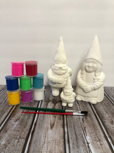 Ceramic Gnome Family Kit