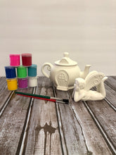 Load image into Gallery viewer, Ceramic Fairy and Tea Pot House Set