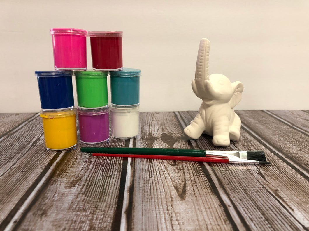 Ceramic Elephant Paint Kit