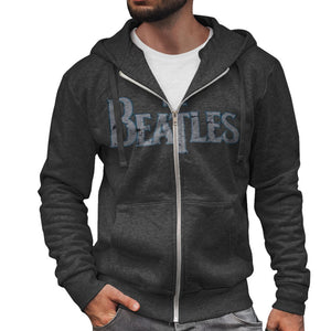 Beatles-vintage-distressed-logo-hoodie