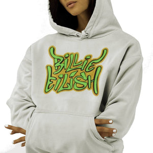 Billie Eilish Graffiti Hoodie Sweatshirt Licensed - Sugar Streetwear