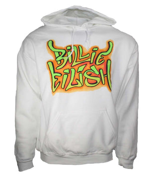 Billie Eilish Grafitti Hoodie Sweatshirt - Sugar Streetwear