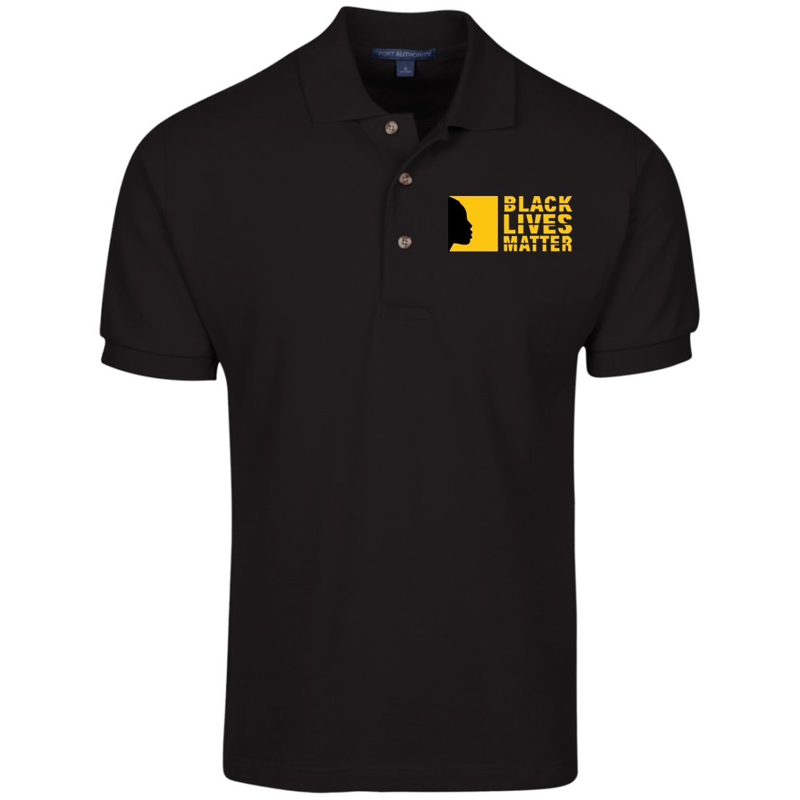 Black Lives Matter Embroidered Polo Shirt - Sugar Streetwear