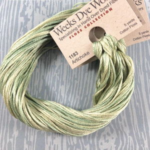 Artichoke Weeks Dye Works 6 Strand Hand-Dyed Embroidery Floss