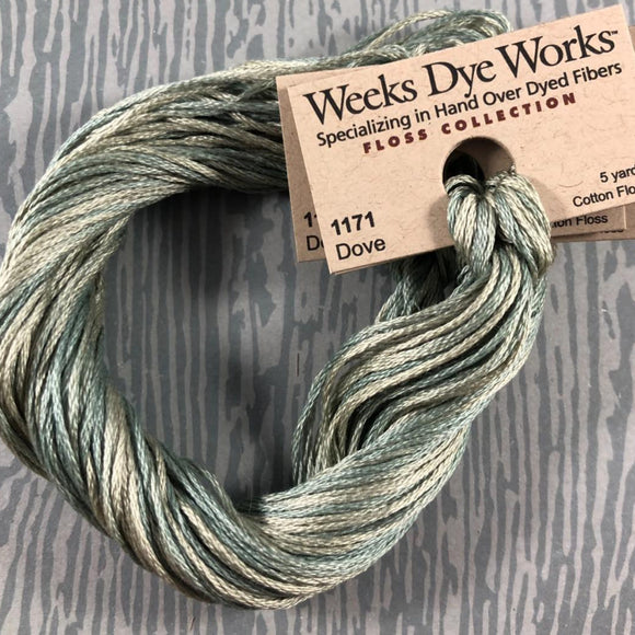 Dove Weeks Dye Works 6 Strand Hand-Dyed Embroidery Floss