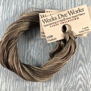 Flatfish Weeks Dye Works 6 Strand Hand-Dyed Embroidery Floss