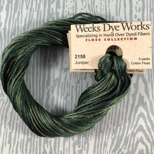 Juniper Weeks Dye Works 6 Strand Hand-Dyed Embroidery Floss