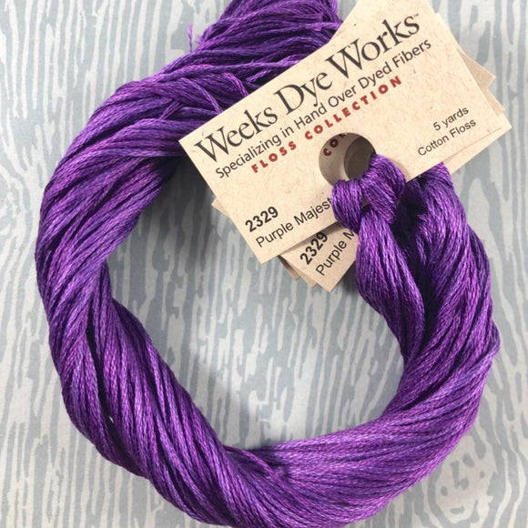 Purple Majesty Weeks Dye Works 6 Strand Hand-Dyed Embroidery Floss