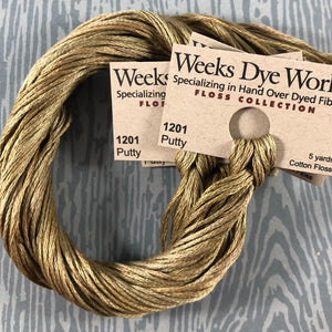 Putty Weeks Dye Works 6 Strand Hand-Dyed Embroidery Floss