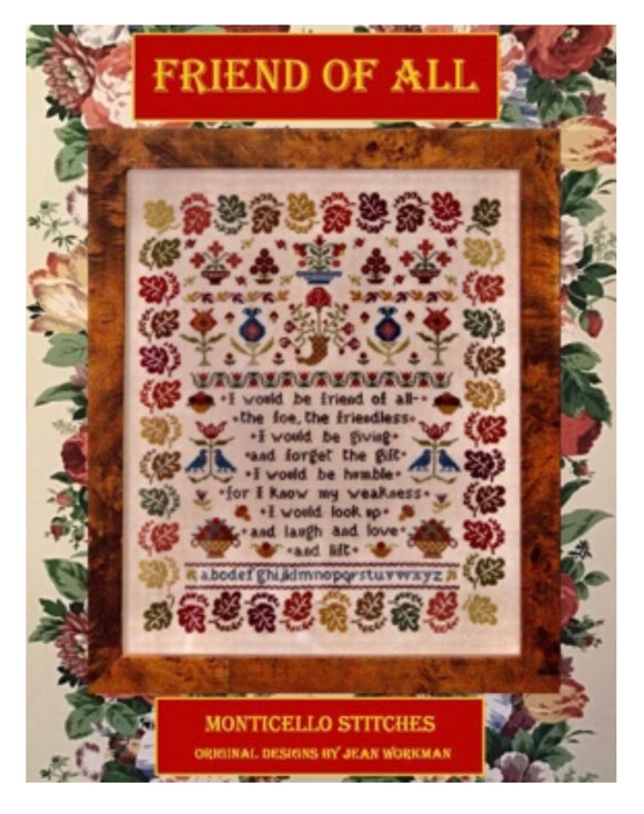 NEW at NEEDLEWORK EXPO Keys to Happiness by Monticello Stitches