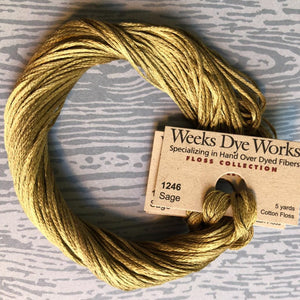 Sage Weeks Dye Works 6 Strand Hand-Dyed Embroidery Floss
