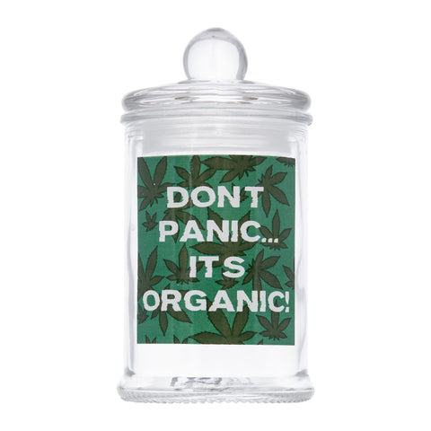 ' DONT PANIC ' Glass Storage