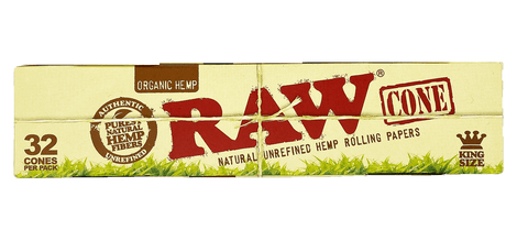 RAW Kingsize Pre Rolled 32 Cones Organic Hemp
