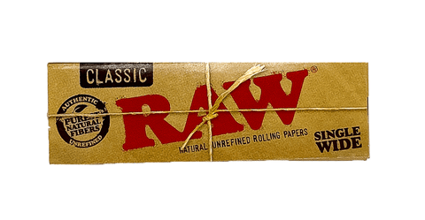 RAW Single Wide Rolling Papers Classic