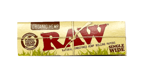 RAW Single Wide Rolling Papers Organic Hemp