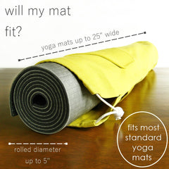 yoga mat bag by effie handmade - mat size