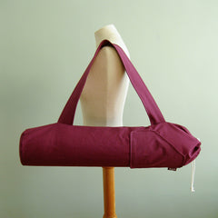 yoga mat bags - Yoga Mat Bag - Plum Purple - effie handmade