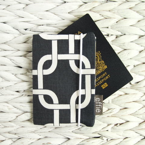 Modern Navy Passport Cover