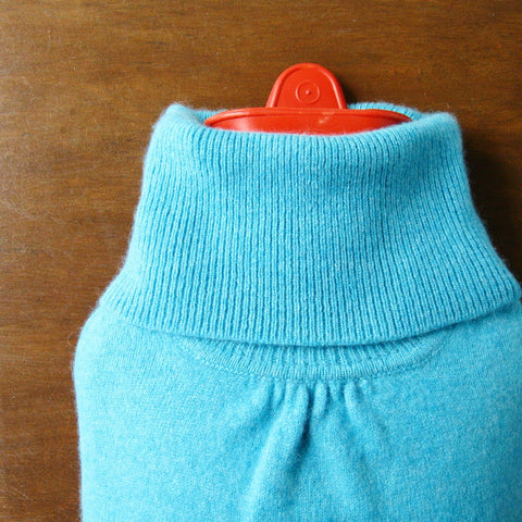 Turquoise Blue Cashmere Hot Water Bottle Cover