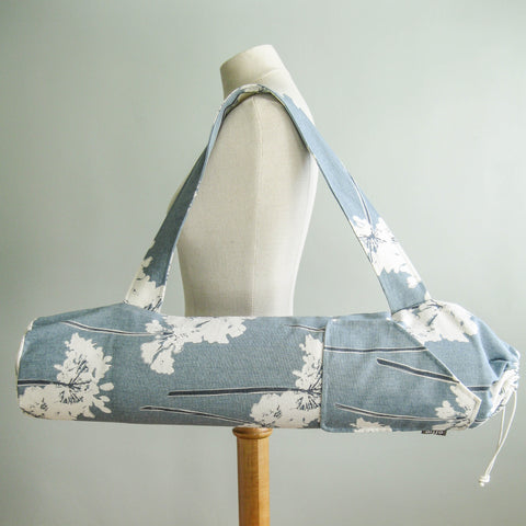 Yoga Mat Bag - Modern Blue Flowers