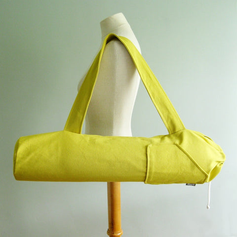 Yoga Mat Bag - Acid Yellow Citron Yoga Bag