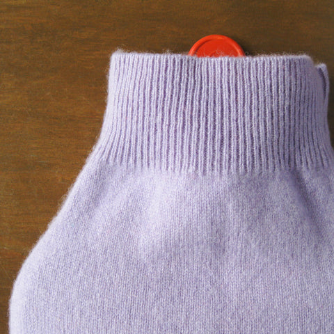 Cashmere Hot Water Bottle Cover - Lavender