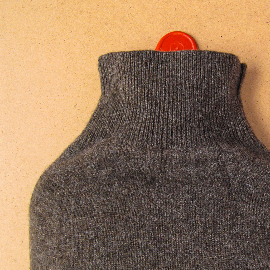 Chocolate Brown 100% Cashmere Hot Water Bottle Cover