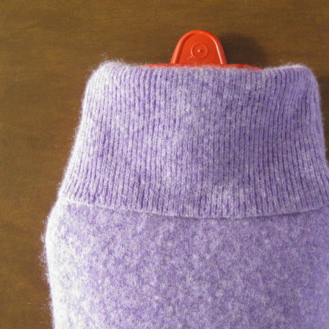 Cashmere Hot Water Bottle Cover - Lilac Purple Cashmere
