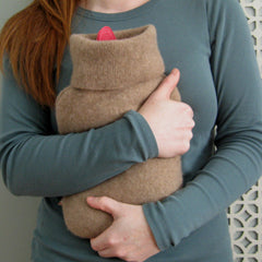 hot water bottle covers - Chocolate Brown 100% Cashmere Hot Water Bottle Cover - effie handmade
