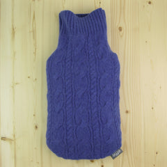 hot water bottle covers - Cashmere Hot Water Bottle Cover - Periwinkle Blue Cable Knit - effie handmade