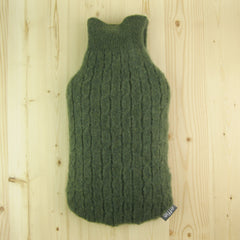 Cashmere Hot Water Bottle Cover - Mossy Green