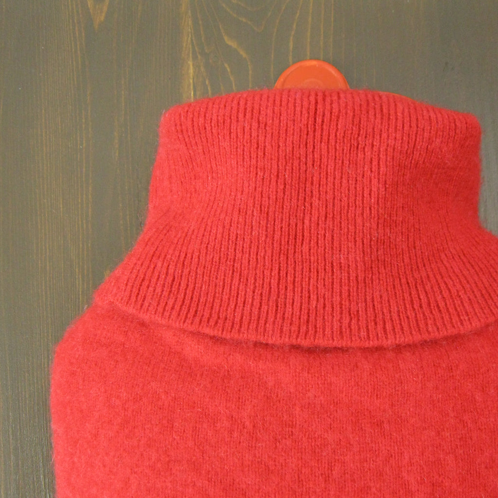 hot water bottle covers - Red Cashmere Hot Water Bottle Cover - effie handmade